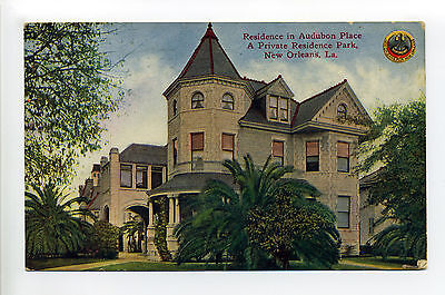 New Orleans LA Residence Audubon PLace, Private Residence Park, 1910