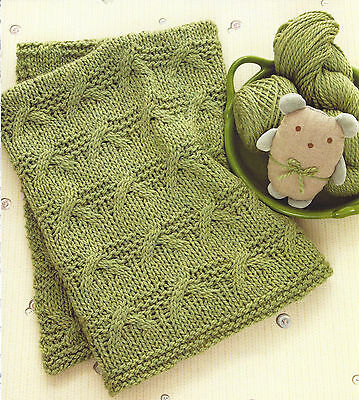 Criss Cross Baby Blanket Throw Knitting Pattern In Chunky Yarn By Email (1043)