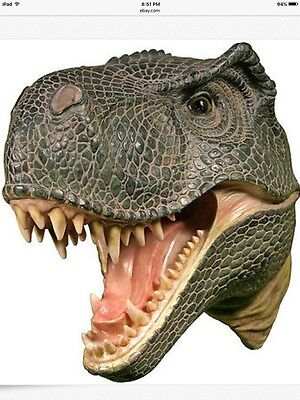 REalistic JERASSIC PARK T-REX Dinosaur Head 3-D Wall Mounted  Plaque