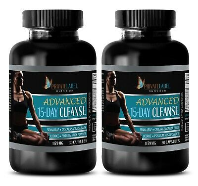 Aloe vera - ADVANCED 15 DAYS CLEANSE - mood vitamins for women - 2 Bottles