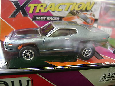 .SOLD OUT Autoworld Xtraction R 3 71 Steel Blue Plymouth GTX HO Slot Car Fits AF