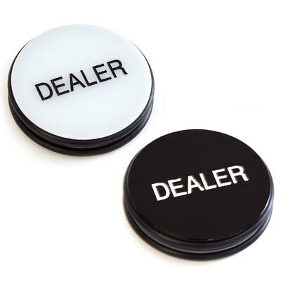 "Double-Sided Casino Grade Poker Dealer Puck - 3"" Diameter. New! FREE SHIPPING!"