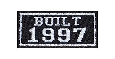Built 1997 Biker Patches Year of Birth Construction Number Motorcycle MC Badge