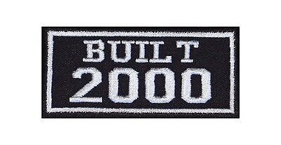 Built 2000 Biker Patches Year of Birth Construction Number Motorcycle MC Badge