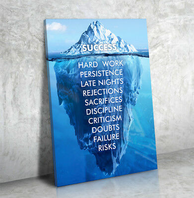 Success Iceberg Hard Work Persistence Quote Success Is An Framed Wall Art Canvas