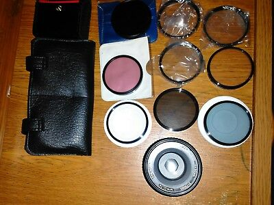 Minolta Lens Vintage 2175093 1:17 50mm MC Rokkor PF Japan Filters Lot