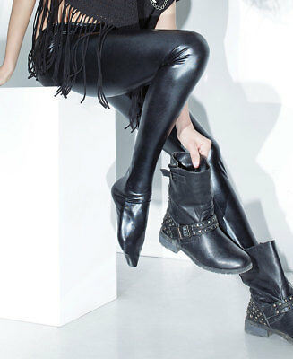 New Coquette D9311 Footed Wet Look Leggings