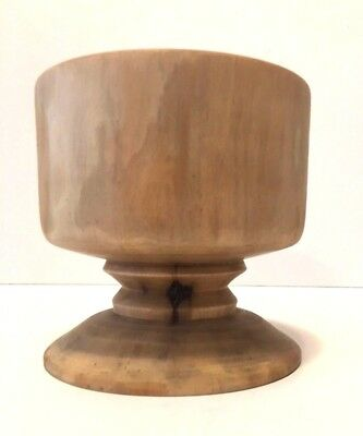 Vintage Turned Goblet Shaped Wooden Bowl