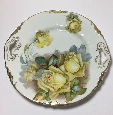 """Prov. Saxe. E.S. Vintage Plate hand painted made in Germany 10"""""""