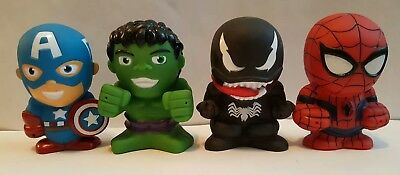 Lot of 4 New Bath Squirters Marvel Captain America The Hulk Spider-Man