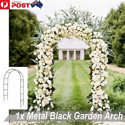 Metal Black Garden Arch Bunnings Steel Gardman Wedding Prom Outdoor Decoration