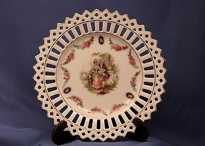 German Victorian Style Reticulated Plates