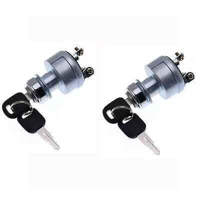 2pk Ignition Key Starter Switch With Key For CAT Caterpillar 9G7641 9G-7641