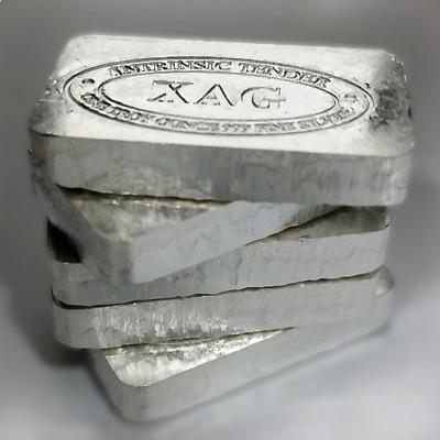 XAG 1oz solid silver bar .999 Pure Silver Old Style No Longer Produced