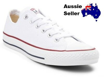 NEW Converse Adult Mens Womens Unisex Chuck Taylor All Star Lo White M7652C