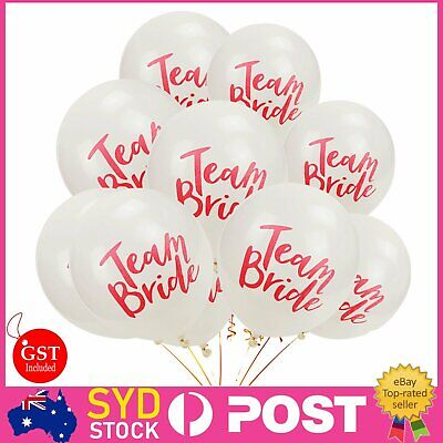 10x White Team Bride To Be Latex Balloons Hens Night Bachelorette Party Wedding