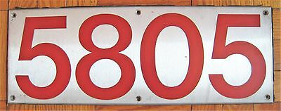 Vintage Toronto Canada Subway Train Car Number Board Plate Sign 5805 Steel