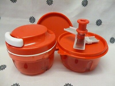 Tupperware Red Turbo Chef + Extra Base & Seals Chop Onion Chopper Veggies New!