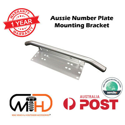 Number Plate Frame BullBar Mount Bracket Car Driving Light Bar Holder Silver AU
