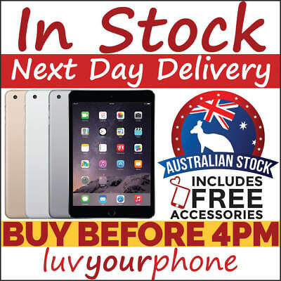 Apple iPad Mini 3 16GB 64GB 128GB WiFi & 4G AU Model New & As New Condition