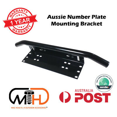Number Plate Frame BullBar Mount Bracket Car Driving Light Bar Holder Black LED
