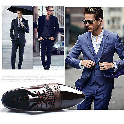 Men's New Dress Formal Oxfords Leather shoes Business Dress Fashion Casual Shoes