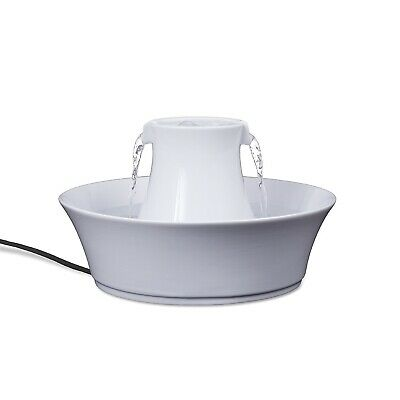 Drinkwell White Ceramic Avalon Pet Fountain for Cats & Dogs
