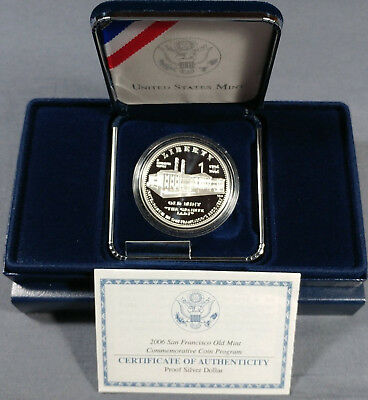 2006-S San Francisco Old Mint Commemorative Coin Proof Silver Dollar $1