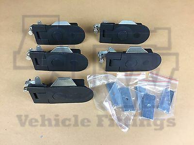 6 Compression Latch Lock LARGE NON LOCKING Horsebox Locker Doors Tack Box C5