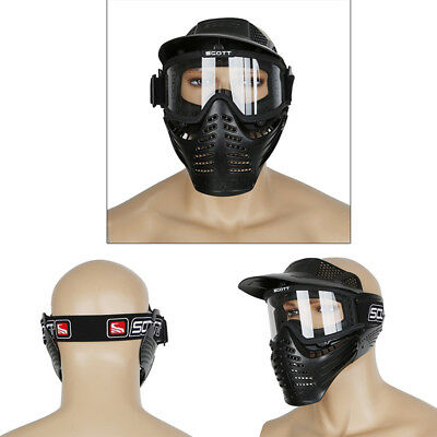 Paintball Full Face Mask Shield Anti-fog Goggles For Tactical Motorcycle Helmet