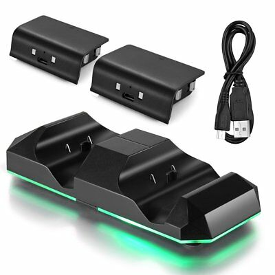 Portable Dual Charging Dock Charger Station for Xbox One & S Wireless Controller