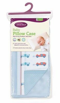 Clevamama replacement baby pillow case blue - Brand new