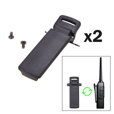 2pcs Radio Back Belt Clip for Baofeng 2-Way Radio UV5R/5RA/5RB/5RC Walkie Talkie