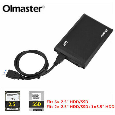 "External Backup Hard Drive Enclosure Case 6TB USB 3.0 2.5"" Portable HDD Sata SSD"