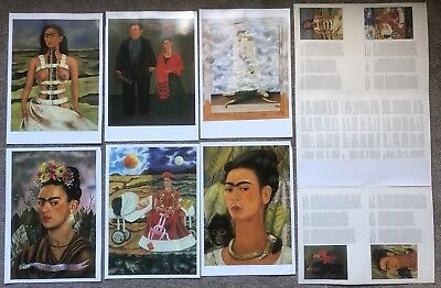 frida kahlo posterbook 6 large art prints with high gloss finish 31x44cm
