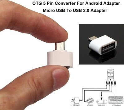 Micro USB Host Male to Female OTG Mini Adapter Converter Samsung Galaxy S3 S4 S5