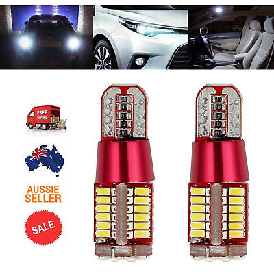 Pair of T10 501 ERROR FREE 3014SMD 57LED Car Side Light Bulb 12V White AU Stock
