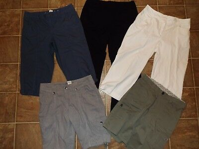 5 Piece Women's Size 8 Pants Capri Shorts Mixed Lot