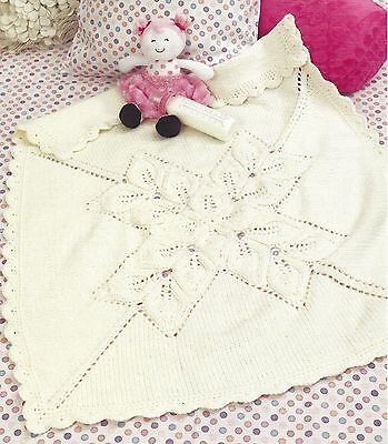 Pretty Baby Lacy Star Motif Blanket Throw Chunky Knitting Pattern By Email (138)