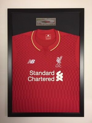 frame fo shirt display Black Frame Kit with free personalised steel plaque