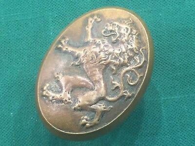 Rare Rampant Lion Antique Cast Bronze Victorian Figural Doorknob - A-14300