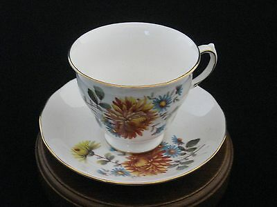 Queen Anne by Ridgway Floral Porcelain Tea Cup & Saucer Made in England