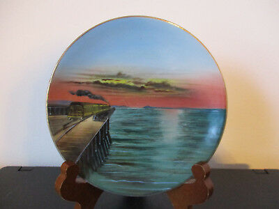 Circa 1910 Souvenir Porcelain Plate Dish Overland Limited Great Salt Lake Utah