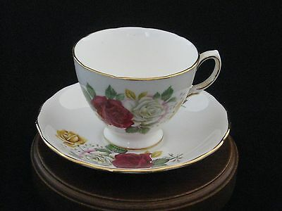 Royal Vale by Ridgway Floral Porcelain Tea Cup & Saucer Made in England