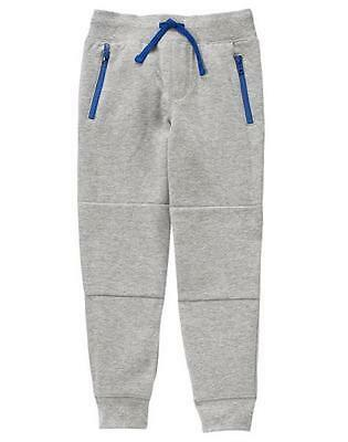 NWT Gymboree Boys Pull on Pants Sweatpants zipper Gray 7,8