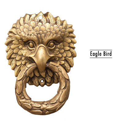 Vintage Brass Door Knocker Eagle Bird Retro Home Decoration