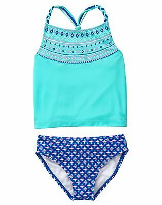 NWT Gymboree Girls Aqua Swimsuit 2 pc Sz 4, 5/6 7/8 10/12