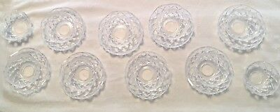 8 Sets of Top Bowls from1985 Waterford Crystal 12 Arm Chandelier