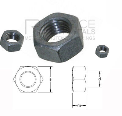 Hexagon Full Nuts Din 934 Self Colour Steel Nuts for Bolts & Screws M3 upto M42