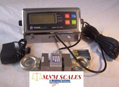 Crane Scale 500 lb x 0.1 lb,ST-0.5k S type Load cell,Digital Indicator,NEW